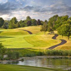 The well-kept green of Crossgates Golf Club.