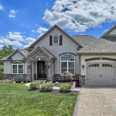 A two-story, single-family home in Crossgates Communities.
