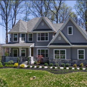 Photo of a new, single-family home in the Bishop Woods Community.